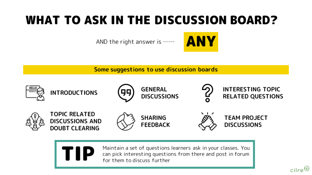 How to use discussion boards