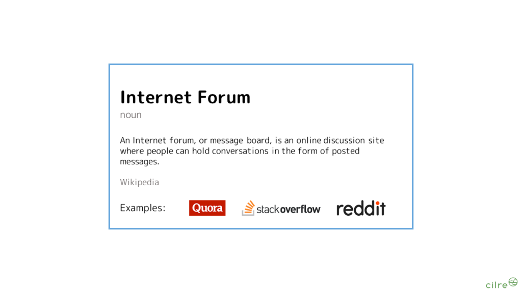 What is an Internet Forum?