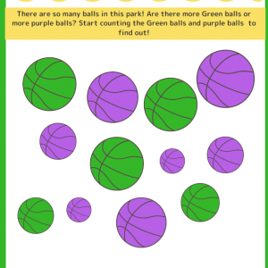 Green Ball Purple Ball - Worksheet