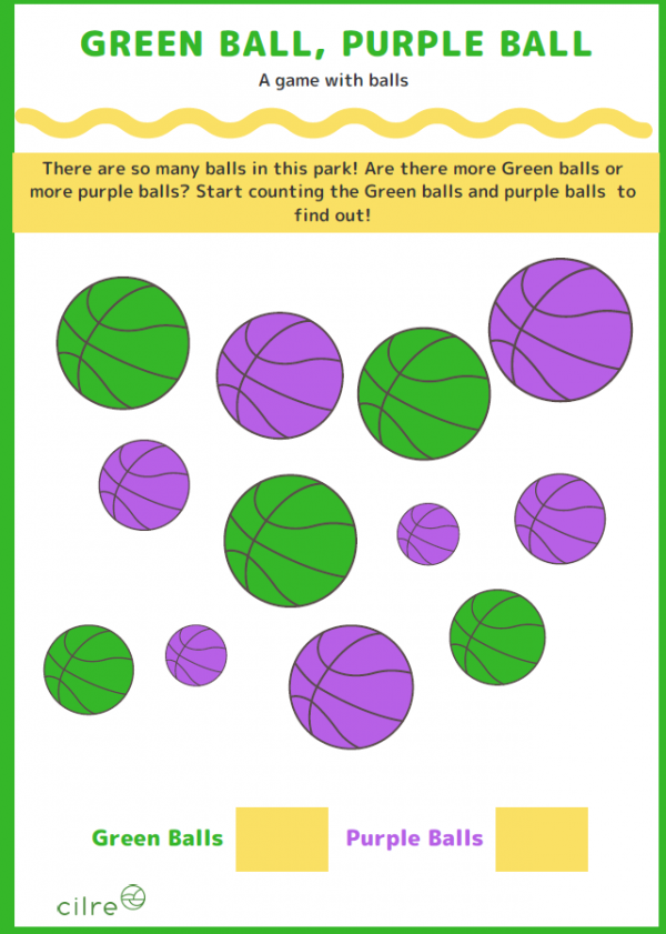Green Ball Purple Ball - Worksheet