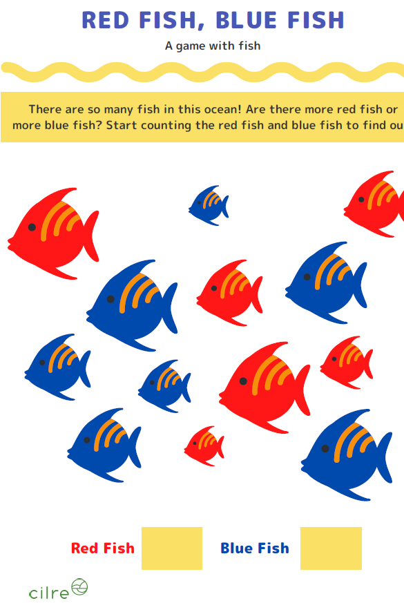 Red Fish Blue Fish Counting Worksheet