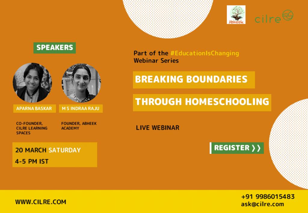 Breaking boundaries through homeschooling