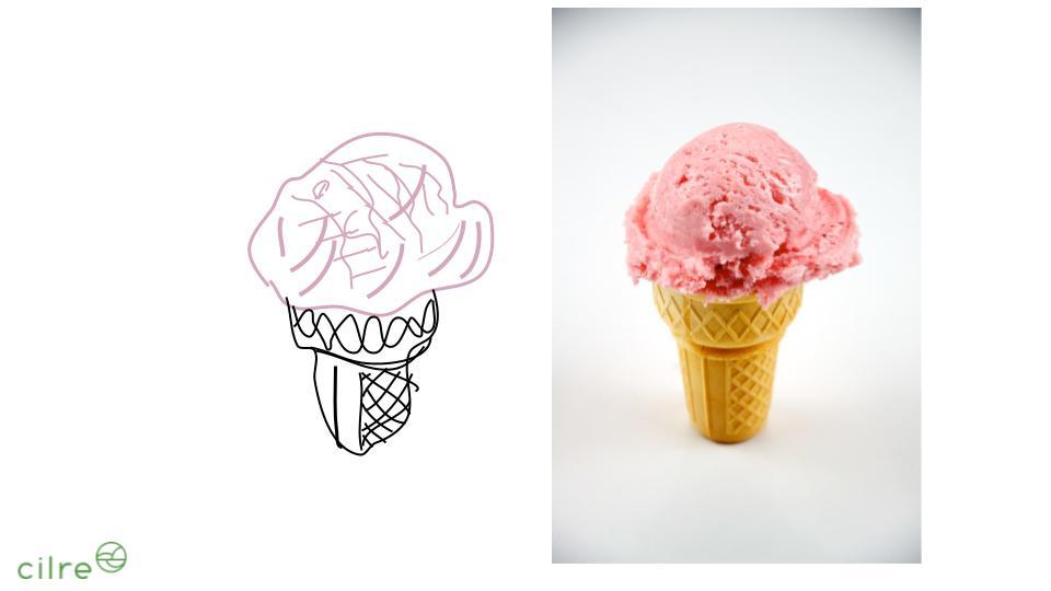 Ice cream-Line Drawing